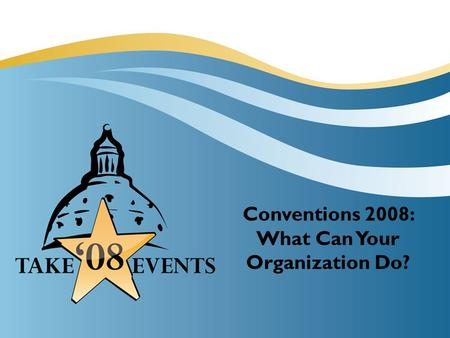 Conventions 2008: What Can Your Organization Do?.