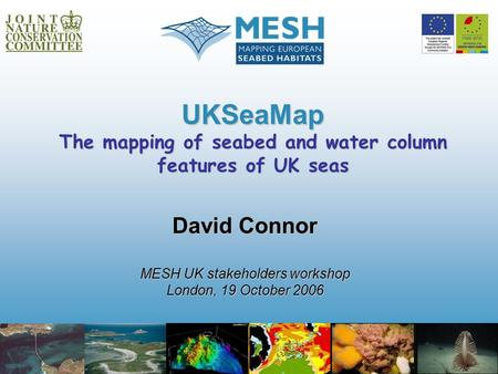 UKSeaMap The mapping of seabed and water column features of UK seas