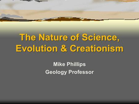 incorporation of the theories of creationism and evolutionism