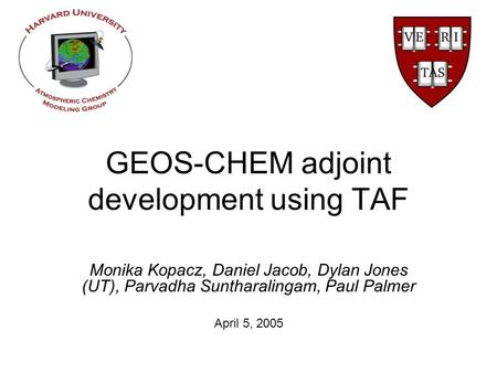 GEOS-CHEM adjoint development using TAF