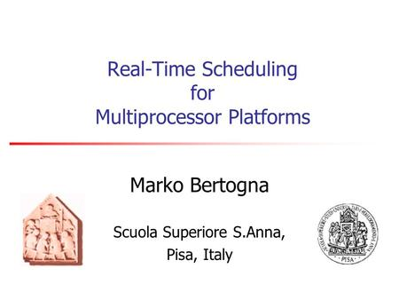Real-Time Scheduling for Multiprocessor Platforms