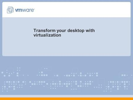 Transform your desktop with virtualization. 22 Agenda Evolution of VDI VDI Solution VDI Use Cases Questions & Answers.