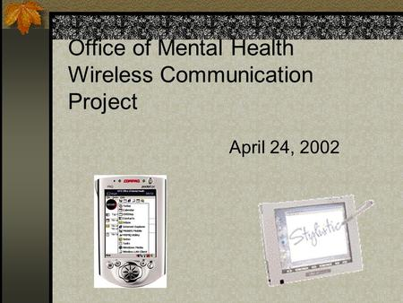 Office of Mental Health Wireless Communication Project April 24, 2002.
