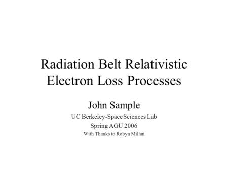 Radiation Belt Relativistic Electron Loss Processes
