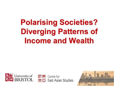 Polarising Societies? Diverging Patterns of Income and Wealth.