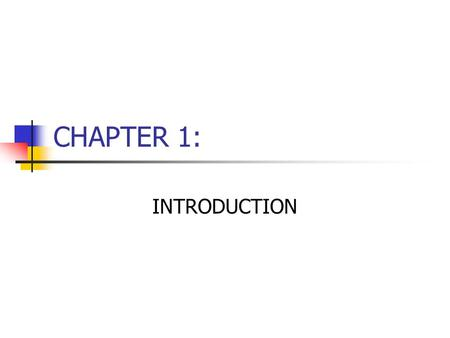 CHAPTER 1: INTRODUCTION.