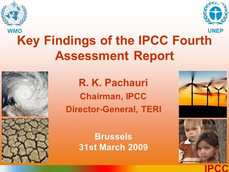 Key Findings of the IPCC Fourth Assessment Report
