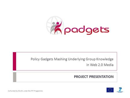 Co-funded by the EC under the FP7 Programme PROJECT PRESENTATION Policy Gadgets Mashing Underlying Group Knowledge in Web 2.0 Media.