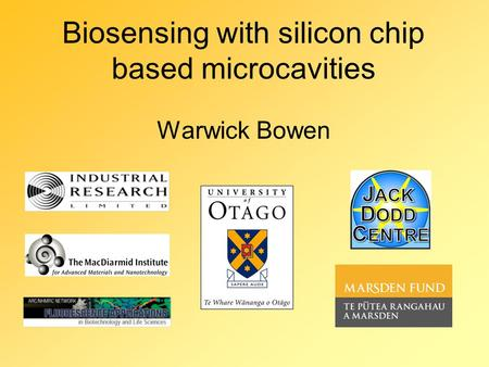Biosensing with silicon chip based microcavities