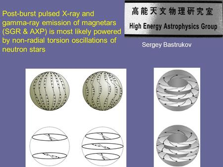 Post-burst pulsed X-ray and gamma-ray emission of magnetars (SGR & AXP) is most likely powered by non-radial torsion oscillations of neutron stars Sergey.