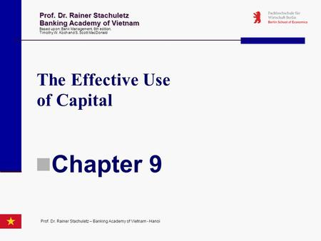 Chapter 9 The Effective Use of Capital