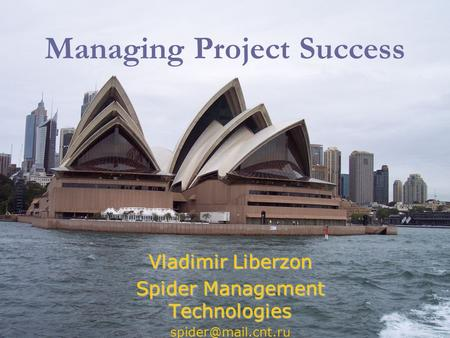 Managing Project Success