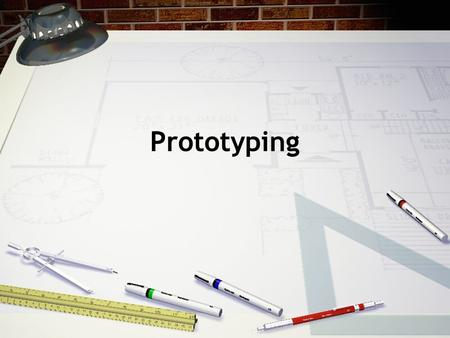 Prototyping. Introduction Low-fidelity prototyping High-fidelity prototyping Compromises in prototyping From design to implementation.