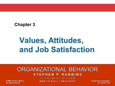 values attitudes and job satisfaction