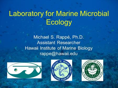 Laboratory for Marine Microbial Ecology