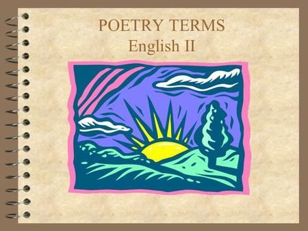 POETRY TERMS English II