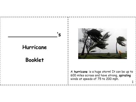 _______________'s Hurricane Booklet