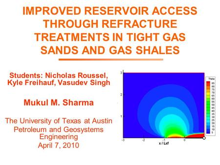 Refracture Natural Gas