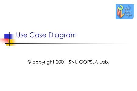 Use Case Diagram © copyright 2001 SNU OOPSLA Lab..