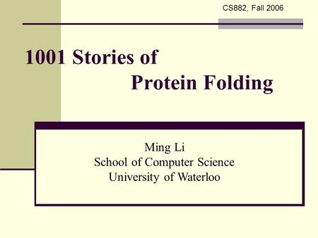 1001 Stories of Protein Folding