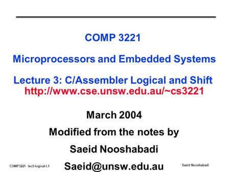 Modified from the notes by
