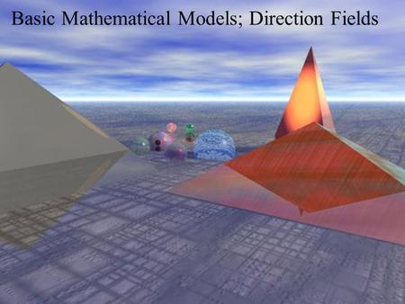Basic Mathematical Models; Direction Fields. A Falling Object.
