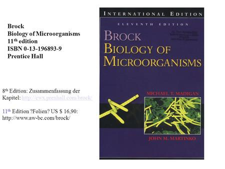 Biology of Microorganisms 11th edition ISBN