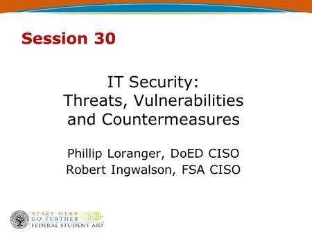 IT Security: Threats, Vulnerabilities and Countermeasures