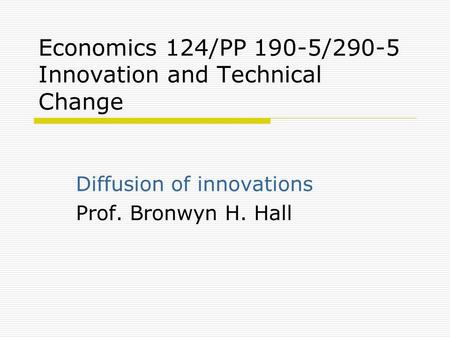 diffusion of innovation essay When reviewing the diffusion of innovation theory, do so in context of new innovations in informatics this could possibly be a new technology or a new technique for doing something review with the intent to underscore the idea that valid theories should be applicable in multiple situations and should help with the formulation of research .