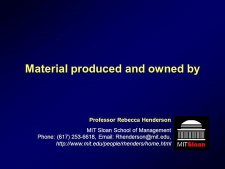 Material produced and owned by
