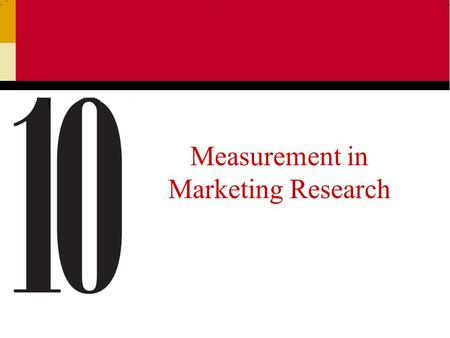 Measurement in Marketing Research. Ch 102 Basic Question-Response Formats Open-ended Closed-ended Scaled-response.