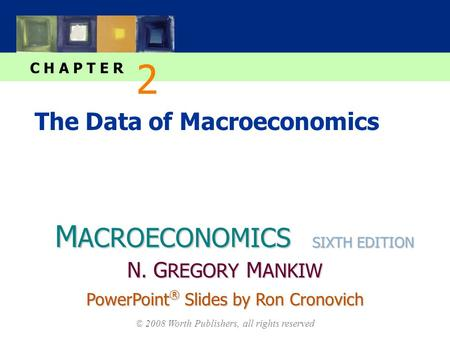 M ACROECONOMICS C H A P T E R © 2008 Worth Publishers, all rights reserved SIXTH EDITION PowerPoint ® Slides by Ron Cronovich N. G REGORY M ANKIW The Data.