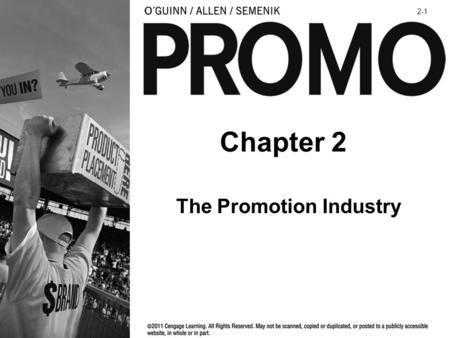 The Promotion Industry