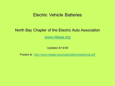 Introduction to electric vehicles ed ristad alternative for Carriage motors santa rosa