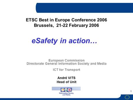 ETSC Best in Europe Conference 2006