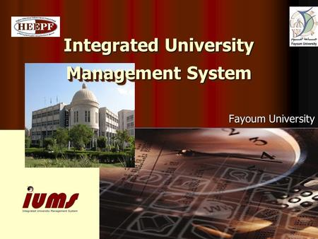 Integrated University Management System Fayoum University.