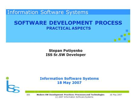 Stepan Potiyenko ISS Sr.SW Developer.