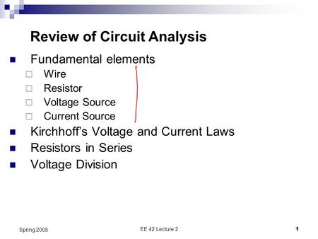 Review of Circuit Analysis