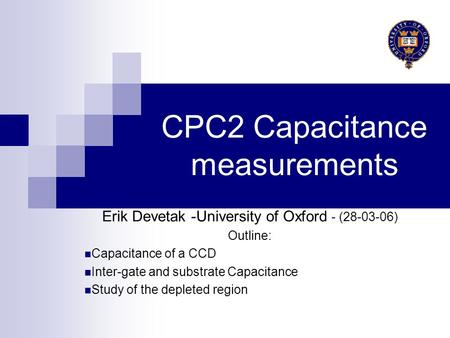 CPC2 Capacitance measurements