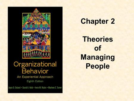 Chapter 2 Theories of Managing People.