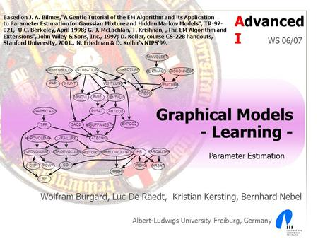 Graphical Models - Learning - Wolfram Burgard, Luc De Raedt, Kristian Kersting, Bernhard Nebel Albert-Ludwigs University Freiburg, Germany PCWP CO HRBP.