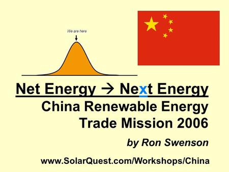 Net Energy  Next Energy China Renewable Energy Trade Mission 2006 by Ron Swenson www.SolarQuest.com/Workshops/China.