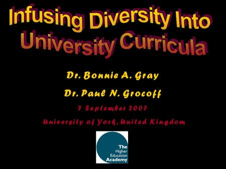 Infusing Diversity Into University of York, United Kingdom