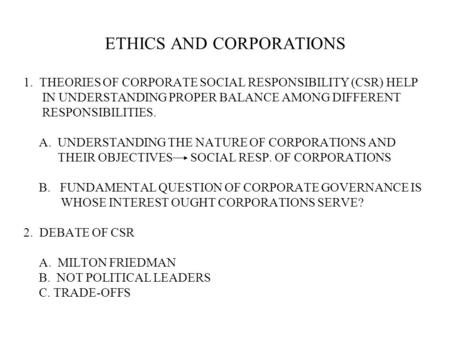 Importance of corporate social responsibility to societies