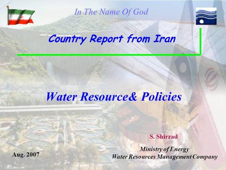 Water Resource& Policies