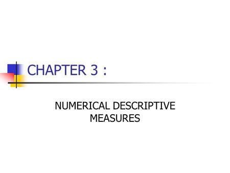 chapter 3 descriptive statistics numerical measures pelican stores Chapter 3(1) lecture material stat ppt statics chapter 3  example: sample data for the stereo and sound equipment store data  documents similar to 3 descriptive statistics--numerical measures programminguserrplinpc uploaded by vitorwel results and interpretation uploaded by.