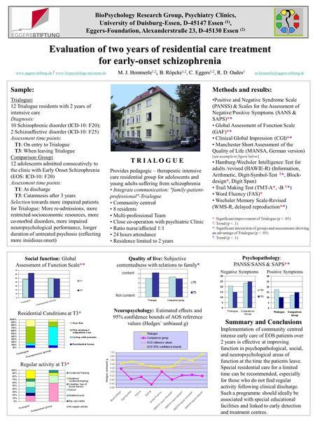 Adult residential schizophrenia treatment