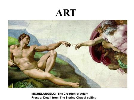 an introduction to the michelangelos art Michelangelo vs diego rivera introduction: political influences many of his art work consist on the rediscovery of the underlying principles of greco-roman art.