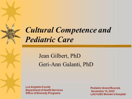 Cultural Competence and Pediatric Care
