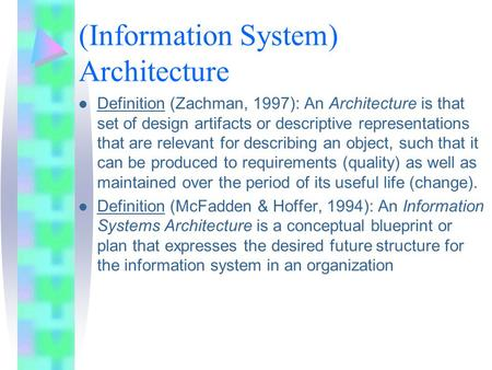 Why enterprise architecture ppt video online download for Anarchitecture definition